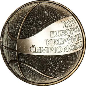 Lithuania 1 Litas Coin 2011 Basketball BU