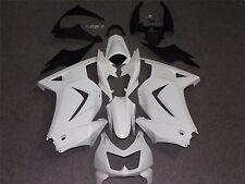 Unpainted Raw ABS Drilled Bodywork Fairing Kit for KAWASAKI NINJA250 2008-2012