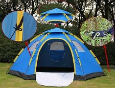 Waterproof Camping Hiking 6 Person Automatic Setup Pop Up Family Dome Tent New