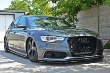 carbon Cup Spoilerlippe für Audi A6 4G Lippe Spoiler Diffusor Ansatz schwert C7