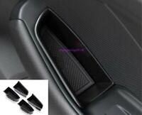 Black Interior Door Storage Box Organizer Holde Tirm For Audi A3 8V 2014-2019