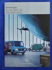 Mercedes-Benz Kastenwagen Sprinter 208 Vario 512 815 - Prospekt Brochure 02.1999