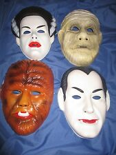 UNIVERSAL MONSTERS Rubies Mask Set ~Dracula/Mummy/Wolf Man/Bride of Frankenstein
