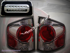 1994-2004 CHEVY S10 SONOMA TAIL LIGHTS 3D STYLE SMOKE + 3RD BRAKE LIGHT