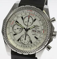 Good!! BREITLING BENTLEY GT Day-Date Chronograph White A13362 Automatic_353924