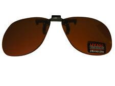 Clip On Flip Up Sunglasses High Density UV400 Fishing Blue Block Amber Lense