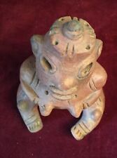 """New listing Intrigue Pre-columbian Clay """"Sitting shaman with """"Ufo"""", Central Mexico"""