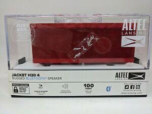 Altec Lansing Jacket H20 4 Rugged Bluetooth Speaker - RED - New (Waterproof)