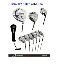 """+2"""" TALL MENS AGXGOLF COMPLETE GOLF CLUB SET 460cc DRIVER, WOODS, IRONS & PUTTER"""