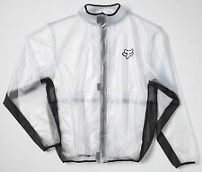 Fox Racing 2016 MX Track Fluid Jacket Clear PVC Rain Jacket SIZE LARGE