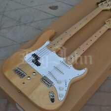 Double Neck BJST Electric Guitar and 5 Strings Electric Bass,Double Head Guitar