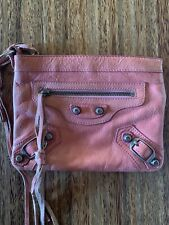 Pink Balenciaga Pink Clutch Wallet Motorcycle Style