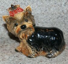 Vintage Goebel W Germany Yorkshire Terrier statue with Bow approx 8�L 3.5�W 6�H