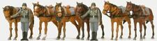 PREISER HO SCALE 1/87 SOLDIERS WITH HORSES | BN | 16597
