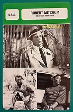 American Actor Robert Mitchum (period 1948-1959)  French Film Trade Card