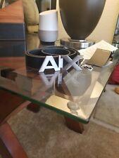 Armani Exchange AX Men's BLACK BOLD LOGO SKINNY BELT size 28