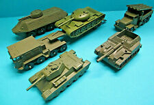 USSR CCCP VINTAGE 70s 6X RED ARMY TANK & MILITARY VEHICLE MODELS MINT NO BOX LOT