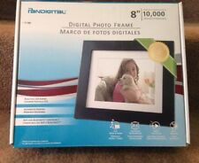 "NIB Pandigital 8"" LCD Black Digital Picture Frame PAN8004W01C-2GB-10,000 Pics"