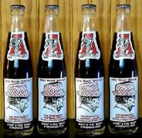 Set Of 4 Vintage NCAA Alabama Coca Cola Bear Bryant Coke Bottles