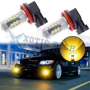 H8 H11 Super Bright Gold Yellow LED Fog Light Bulbs for BMW F10 F30 F32 X1 X3