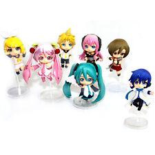 7PCS Action Figures Hatsune Miku Meiko Luka Kaito Len Anime Collection Toys Gift