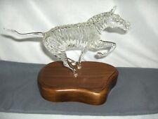 Godo Frabel Hand Blown Crystal Figurine Sculpture Zebra Limited  14/150 RARE