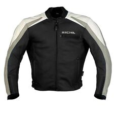 GIACCA RICHA Pelle DISTRICT TAILLE 56 Moto pelle giacca VINTAGE giacca