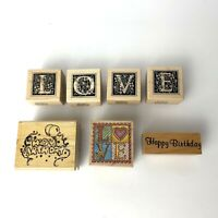 PSX All Night Media L O V E LOVE + Happy Birthday with Balloons Rubber Stamps
