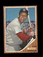 1962 TOPPS #50 STAN MUSIAL VGEX CARDINALS HOF NICELY CENTERED *SBA7371
