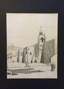 JULIEN R. SEAVEY INK DRAWING HAMILTON ONTARIO ARTIST CANADA CHRISTIAN CHURCH