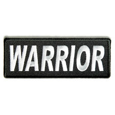 Embroidered Warrior Sew or Iron on Patch Biker Patch