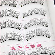 10 Pairs Natural Handmade False Eyelashes Cosmetic Beauty Nude Makeup Eye Lashes