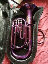 More details for euphonium jollysun purple euphonium brass instrument