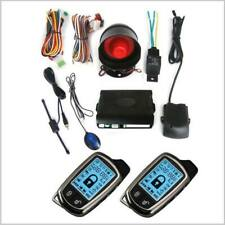 2 Way LCD Auto Car SUV Alarm System Security w/Siren Controlers Anti Theft