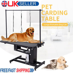 Large Hydraulic Pet Dog Grooming Table Station with H Bar Arm 3 Leash Heavy Duty