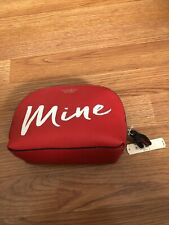 Victorias Secret Red Mine Bag Makeup Cosmetic Case Brand New!