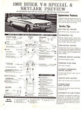 1962 BUICK LESABRE INVICTA SPECIAL SKYLARK ELECTRA 225 LUBE CHARTS PICTURES SIN
