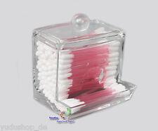 Acrylic Wattestaebchenbox Cotton Swab Dispenser Cosmetics Wattestäbchenhalte No: