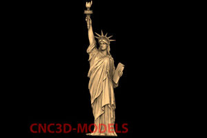 3D Model CNC Router STL File Artcam Aspire Vcarve Statue of Liberty NYC PK119