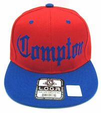 COMPTON Snapback Hat South Central LA City Cap Los Angeles Red Blue OSFM New