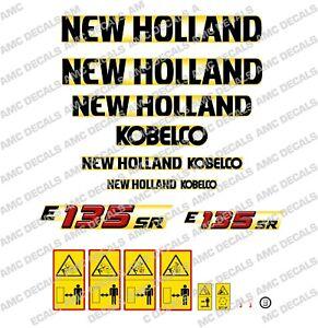 NEW HOLLAND KOBELCO E135SR DIGGER DECAL STICKER SET