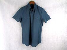 Gucci Skinny Fit 39/15.5 o M Mangas Cortas Camisa Auténtica