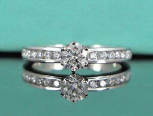 $4,750 Tiffany Co G VVS1 Platinum Channel 0.31ct Round Diamond Engagement Ring 4