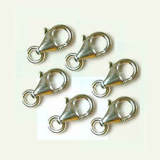 10x 12mm Sterling Silver  bright 925 Trigger Lobster pear shape Parrot Clasp f29