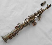 Professional Antique Sopranino Saxophone Eb sax Low Bb high F With Case