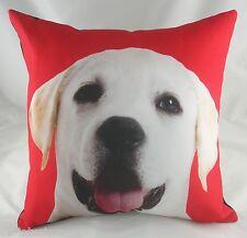 43.2cm BLONDIE Cachorro LABRADOR DOG CUSHION Evans Lichfield Rojo DP130