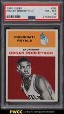 1961 Fleer Basketball Oscar Robertson ROOKIE RC #36 PSA 8 NM-MT