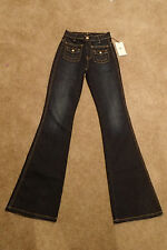 NWT 7 Seven For All Mankind VNRD Dark Blue Flared Jeans in Size 23 x 34