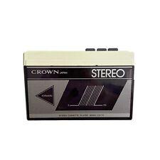 Vintage Crown Japan Cassette Tape Player CS-11 Walkman Tested