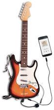 Elektrische Gitarre Kindergitarre Rockgitarre 64cm Braun Smartphone Ipod MP3 Aux